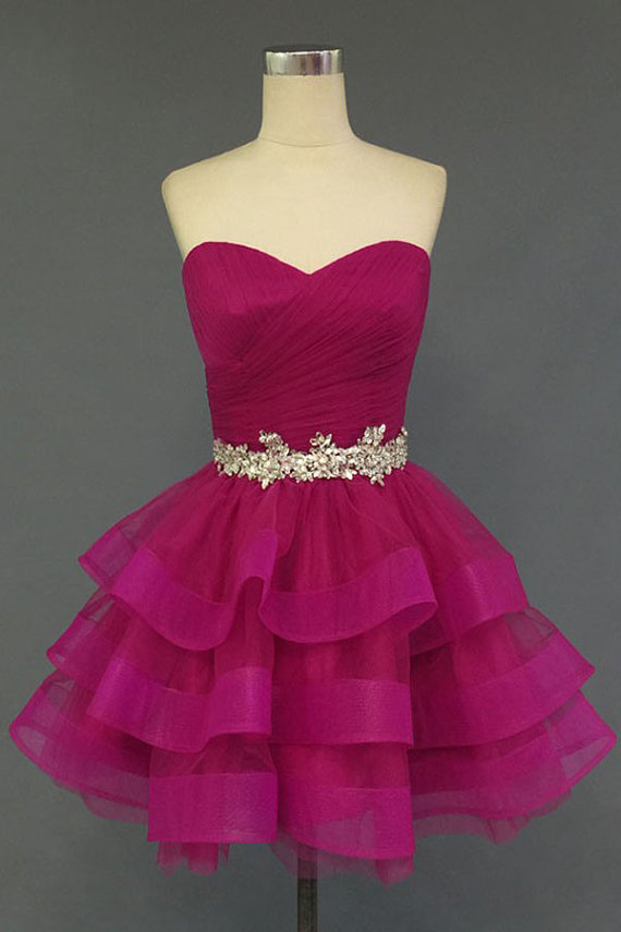 2f1f3e2046f7 Pink Party Dress, Ruffles Party Dress, Sweetheart Party Dress, A-line Party  Dress, Beading Party Dress,Sexy Party Dress, Lace-up Party Dress, Short  Party ...
