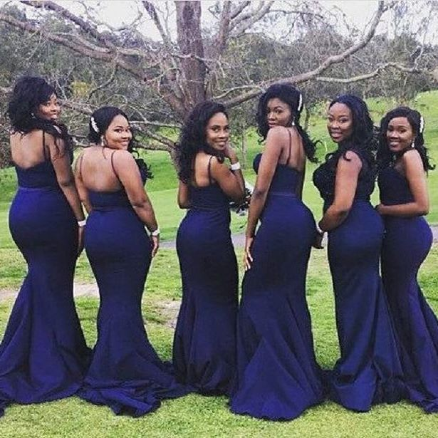 Navy Blue Bridesmaid Dresses, Long Bridesmaid