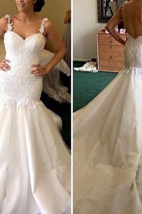 Wedding Dresses,Custom Wedding Dress,Sweetheart Wedding Dresses,Backless Wedding Dresses,Mermaid Wedding Dresses,Sexy Wedding Dresses,Long Wedding Dresses,Lace Wedding Dresses,Spaghetti Strap Wedding Dresses