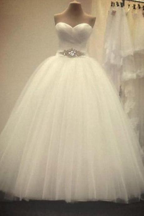 New Arrival Wedding Dress,Ball Gown Wedding Dress,Beading Crystal Wedding Dress